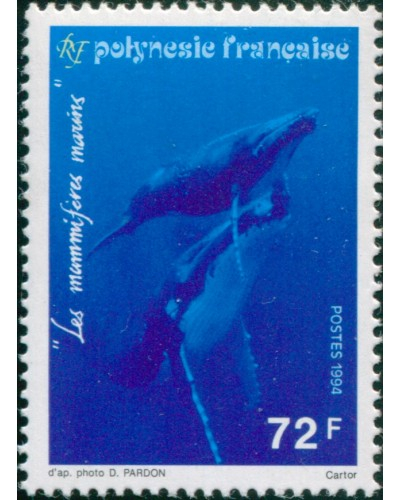 French Polynesia 1994 Sc#636,SG696 72f Humpback Whales MNH