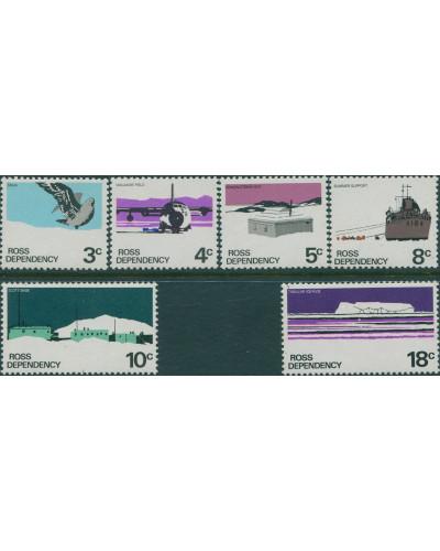 Ross Dependency 1979 SG9a-14a Definitives chaulk paper MNH