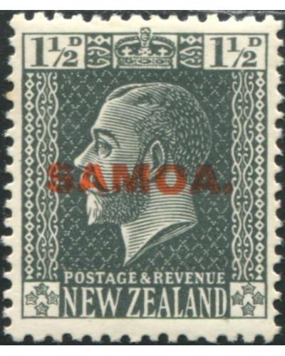 Samoa 1916 SG135 1½d slate KGV with SAMOA. ovpt MH