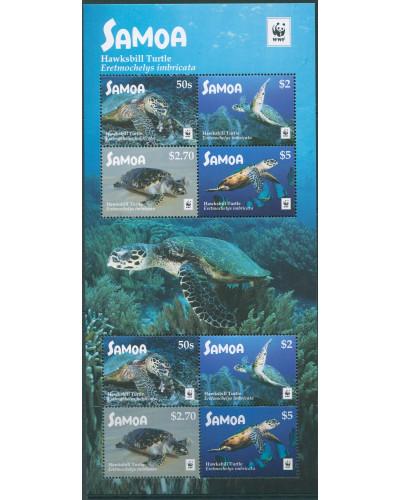 Samoa 2016 SG1430 WWF Hawksbill Turtle MS MNH