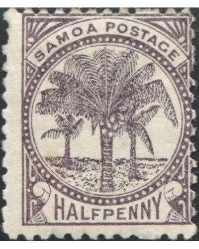Samoa 1895 SG57 ½d purple-brown Palm Tree MH