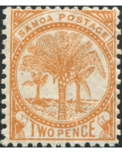 Samoa 1895 SG59a 2d orange Palm Tree MH