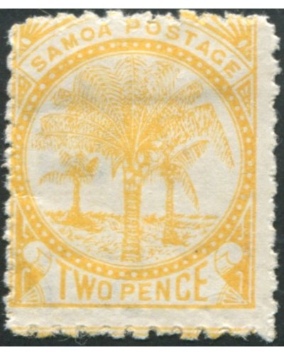 Samoa 1895 SG59 2d pale yellow Palm Tree MH
