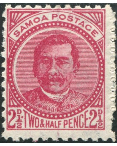 Samoa 1895 SG60a 2½d deep rose-carmine Palm Tree MH