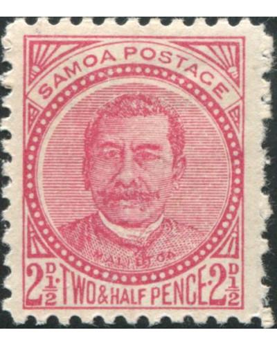 Samoa 1895 SG60 2½d rose King Malietoa Laupepa MH