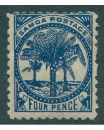 Samoa 1895 SG61 4d blue Palm Trees MH