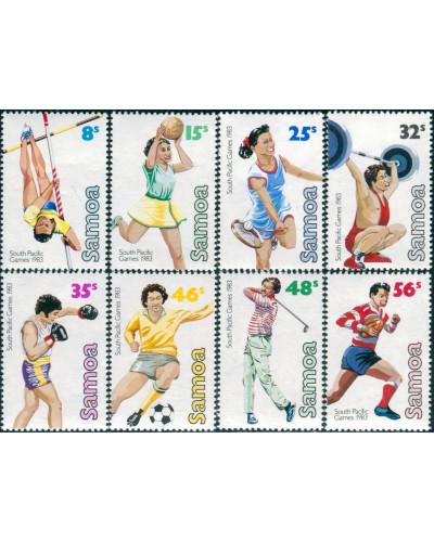 Samoa 1983 SG639-646 South Pacific Games set MNH