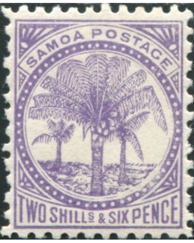 Samoa 1895 SG64a 2/6d reddish lilac Palm Tree MH