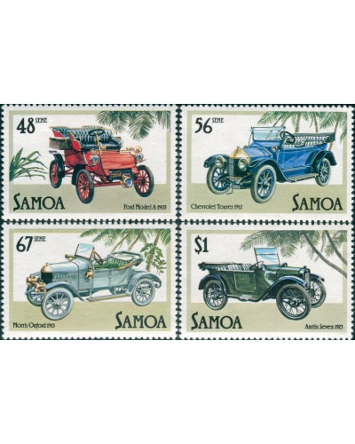 Samoa 1985 SG692-695 Veteran and Vintage Cars set MNH