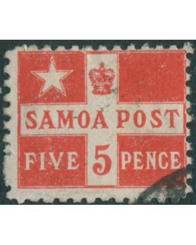 Samoa 1894 SG72a 5d deep red Flag FU