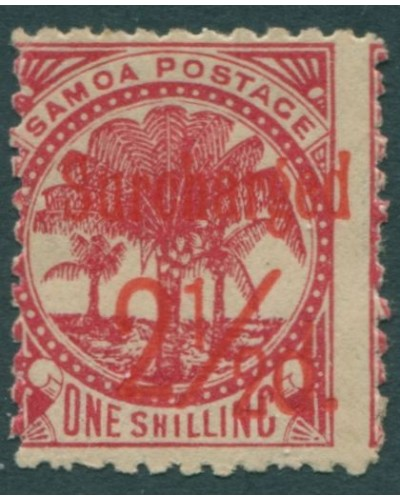 Samoa 1898 SG85 Surcharged 2½d. on 1/- dull rose-carmine Palm Trees MLH
