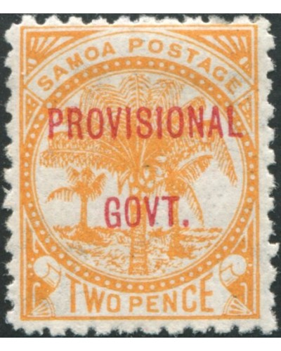 Samoa 1899 SG92 2d dull orange Palm Tree PROVISIONAL GOVT. ovpt MH