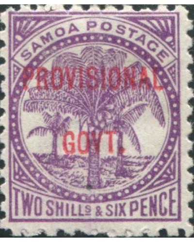 Samoa 1899 SG97 2/6d reddish purple Palm Tree PROVISIONAL GOVT. ovpt MLH