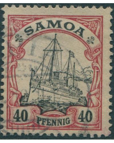 Samoa 1900 SGG13 40pf black and carmine Yacht FU
