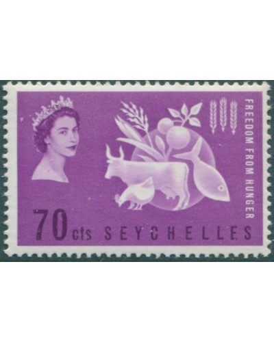 Seychelles 1963 SG213 70c Freedom from Hunger MLH