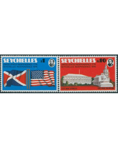 Seychelles 1976 SG363-364 Independence Flags set MNH