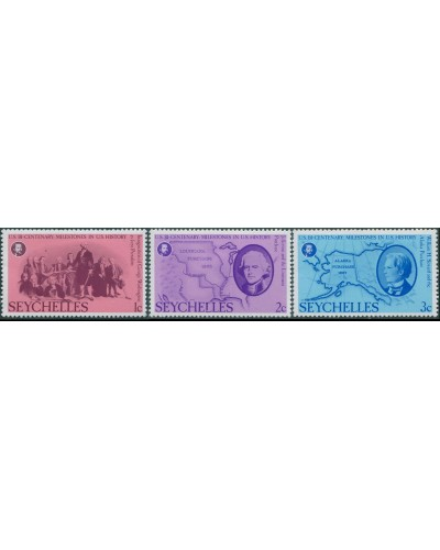 Seychelles 1976 SG383-385 Milestones in US History MNH