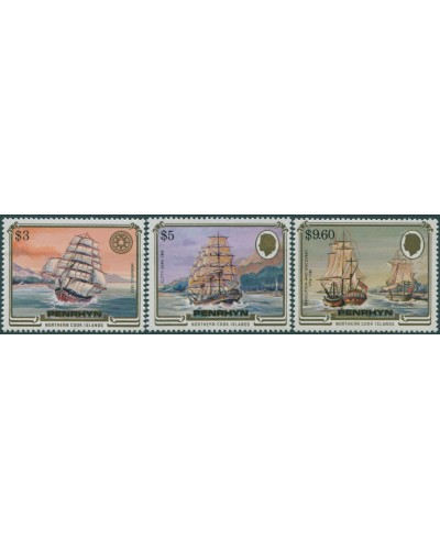 Cook Islands Penrhyn 1983 SG353-355 Ships high values MNH
