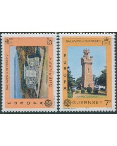 Guernsey 1978 SG165-166 Europa memorial monument set MNH