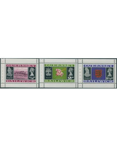 Guernsey 1971 SG44-48 Castle Lily Arms booklet panes MNH