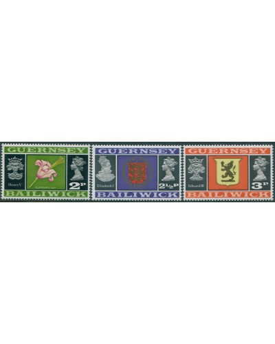 Guernsey 1971 SG47-49 Lily Arms MNH