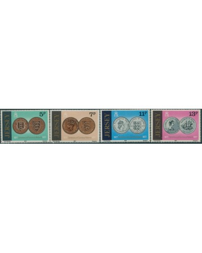 Jersey 1977 SG171-174 Currency Reform set MLH