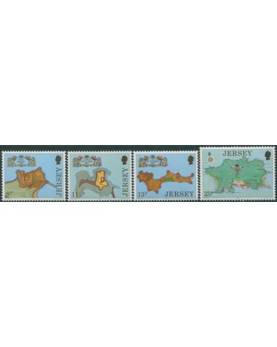 Jersey 1980 SG222-225 Fortresses set MNH