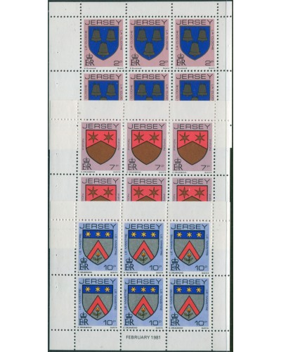 Jersey 1981 SG251-259 Family Arms booklet panes MNH