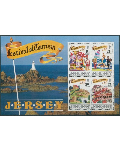 Jersey 1990 SG525 Tourism Festival MS MNH