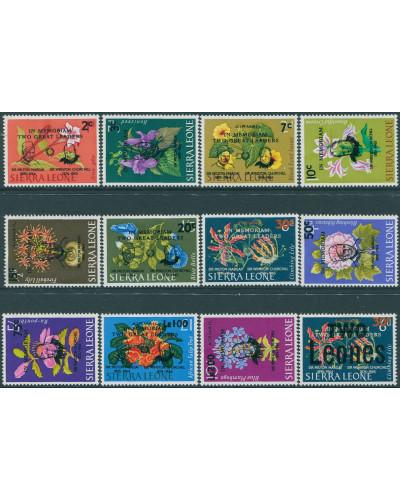 Sierra Leone 1965 SG365-376 5th issue and Margai Churchill set MNH