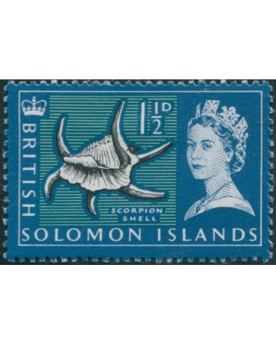 Solomon Islands 1965 SG114 1½d Spider Conch shell MLH