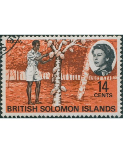Solomon Islands 1968 SG173 14c Cocoa FU