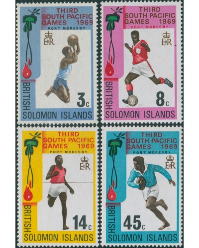 Solomon Islands 1969 SG184-187 South Pacific Games set MLH