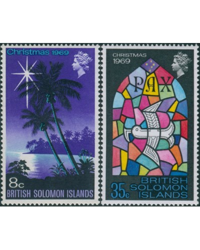 Solomon Islands 1969 SG189-190 Christmas set MNH