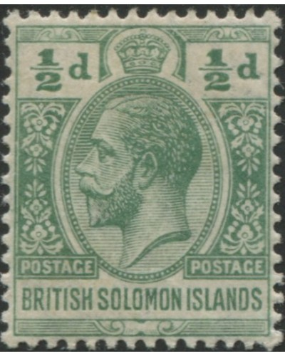 Solomon Islands 1913 SG18 ½d green KGV MH