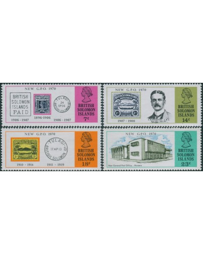 Solomon Islands 1970 SG191-194 New GPO Honiara set MNH