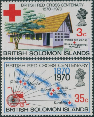 Solomon Islands 1970 SG197-198 Red Cross set MLH