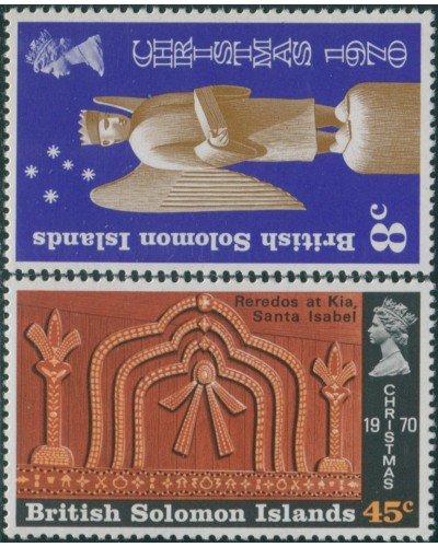 Solomon Islands 1970 SG199-200 Christmas set MNH