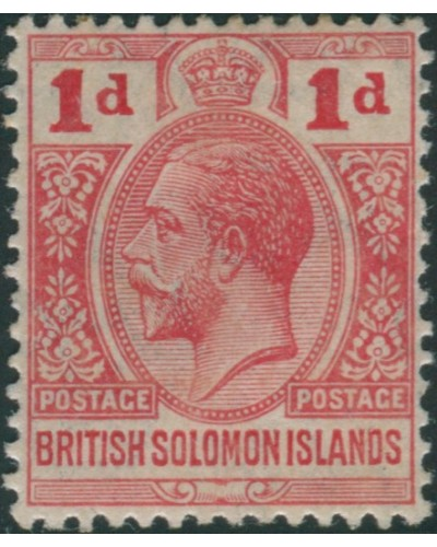 Solomon Islands 1913 SG19 1d red KGV MLH