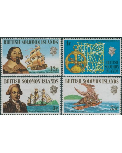 Solomon Islands 1971 SG201-204 Ships and Navigators set MNH