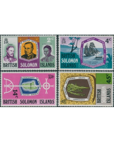 Solomon Islands 1971 SG205-208 Bishop Patterson set MNH