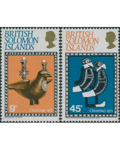 Solomon Islands 1971 SG213-214 Christmas set MNH