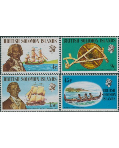 Solomon Islands 1972 SG215-218 Ships and Navigators set MNH