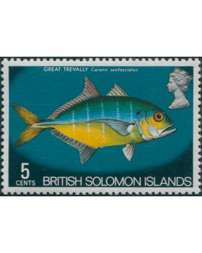 Solomon Islands 1972 SG223 5c Great Trevally MLH