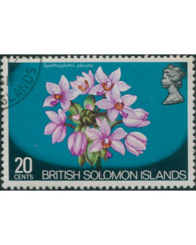Solomon Islands 1972 SG228 20c Flower FU