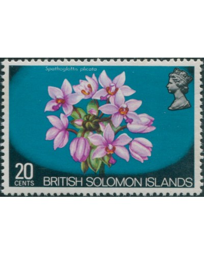 Solomon Islands 1972 SG228 20c Flower MNH