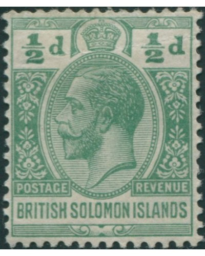 Solomon Islands 1914 SG22 ½d green KGV MLH