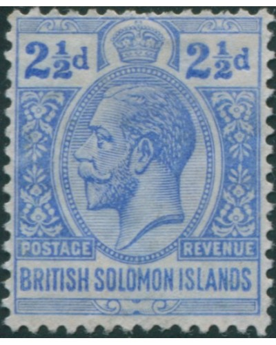 Solomon Islands 1914 SG27 2½d ultramarine KGV MLH