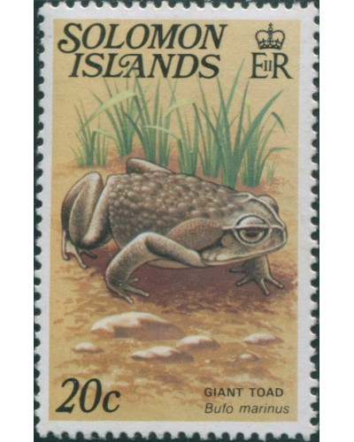 Solomon Islands 1979 SG396A 20c Giant Toad MNH