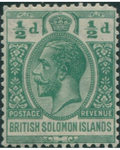 Solomon Islands 1922 SG39 ½d green KGV MNH